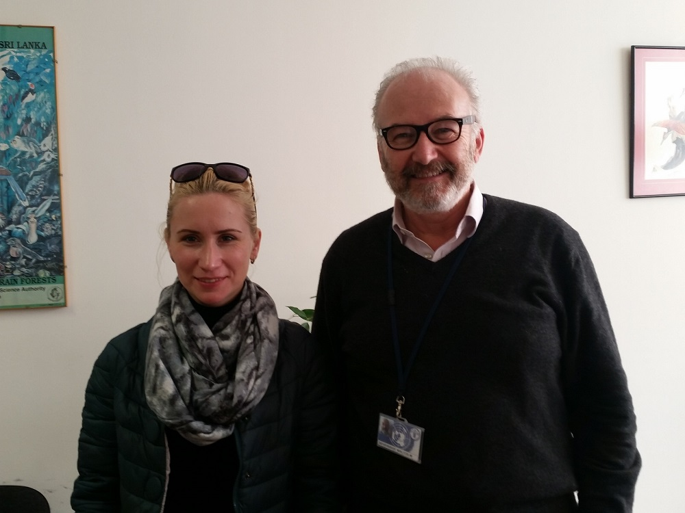 Chair of the International Union of Young Farmers Mrs Aleksandra Michaliova meets with Head of the Aquaculture branch of the Food and Agriculture Organization of the United Nations, Fisheries and Aquaculture Department Prof. Dr. Malcom Beverige